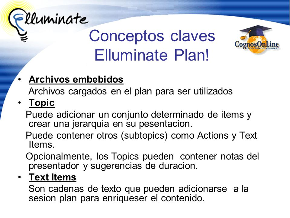 Conceptos claves Elluminate Plan!