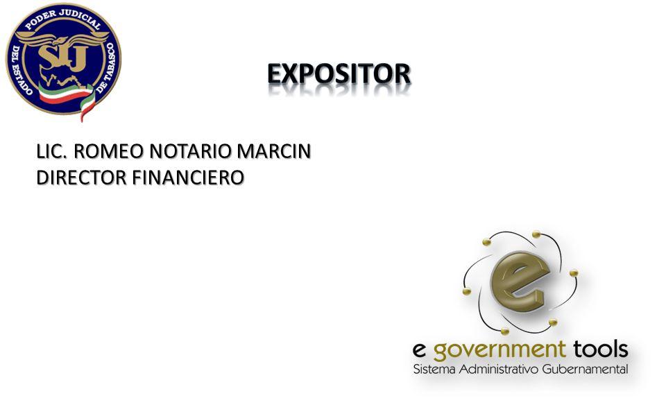 expositor LIC. ROMEO NOTARIO MARCIN DIRECTOR FINANCIERO
