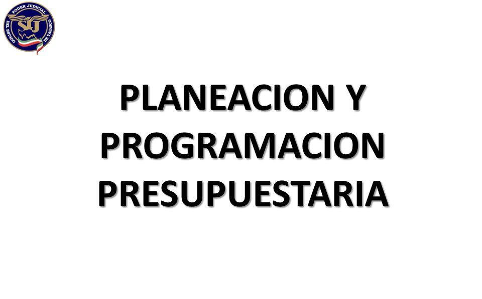 PLANEACION Y PROGRAMACION PRESUPUESTARIA