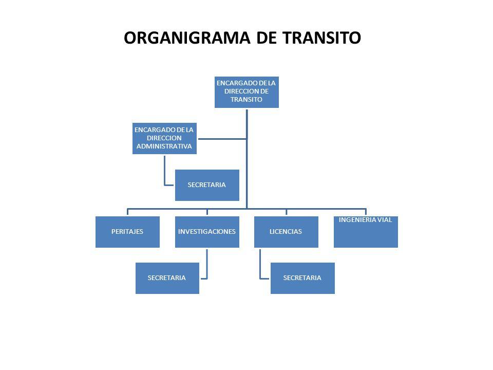 ORGANIGRAMA DE TRANSITO