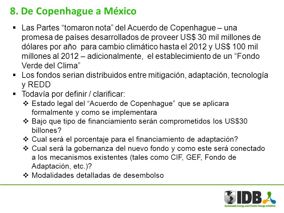 8. De Copenhague a México