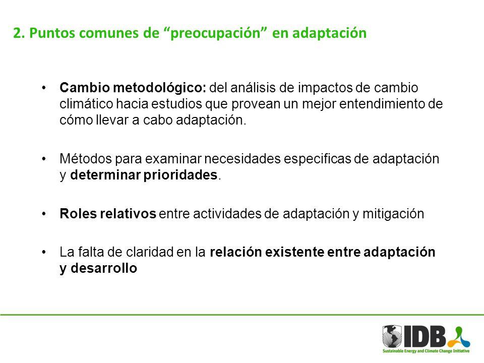 2. Puntos comunes de preocupación en adaptación