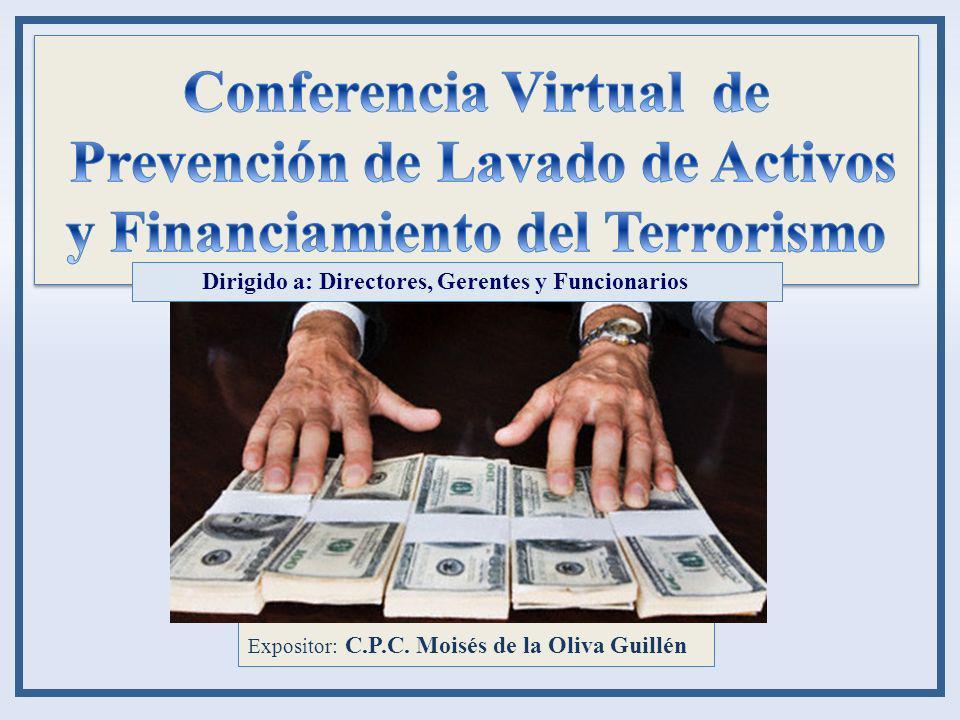 Conferencia Virtual de Prevención de Lavado de Activos y Financiamiento del Terrorismo