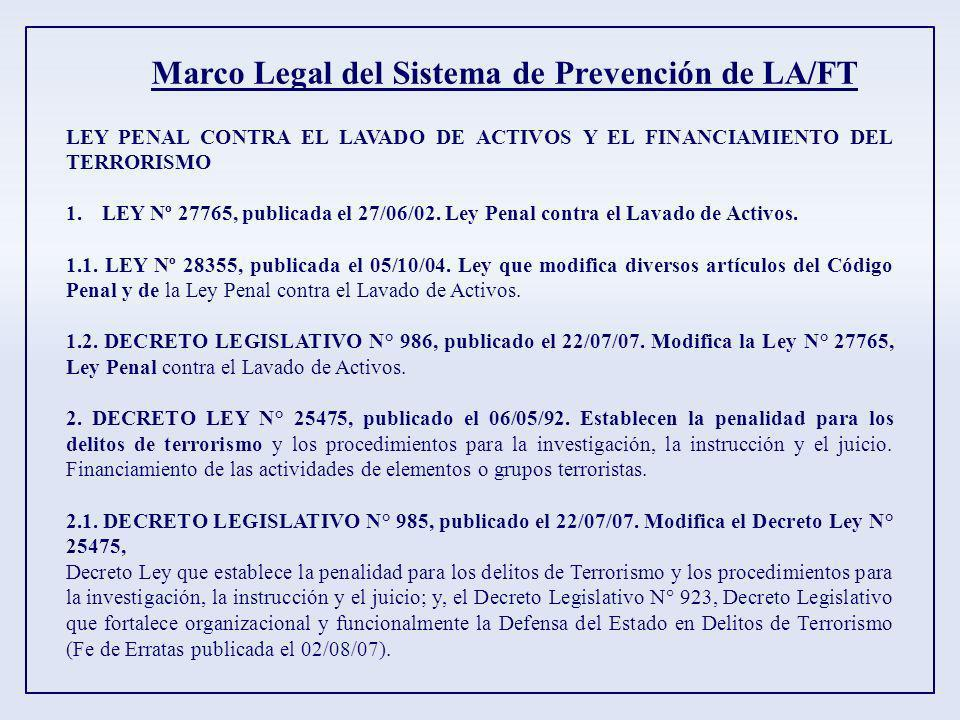Marco Legal del Sistema de Prevención de LA/FT