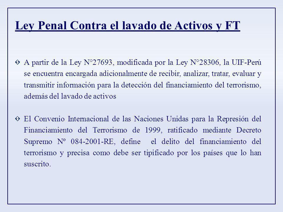 Ley Penal Contra el lavado de Activos y FT