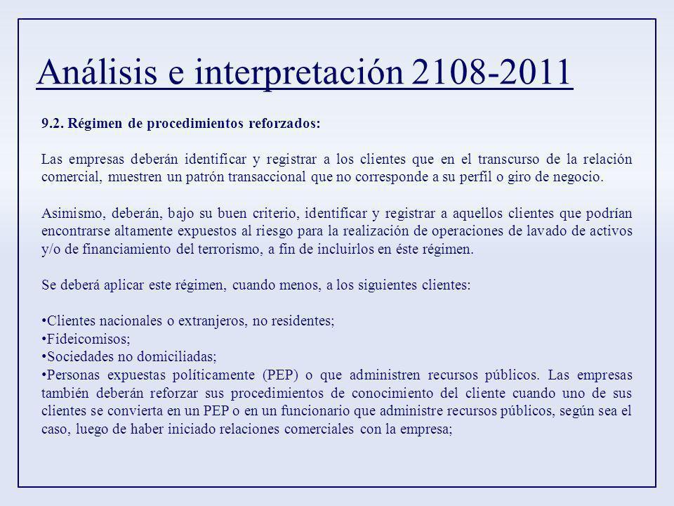 Análisis e interpretación 2108-2011