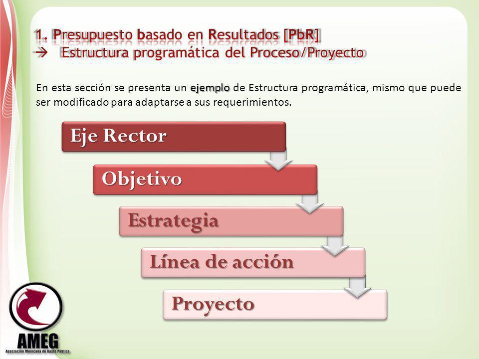 Eje Rector Objetivo Estrategia Línea de acción Proyecto