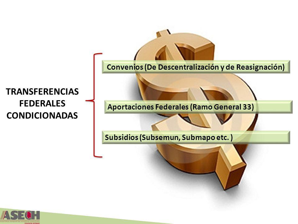 TRANSFERENCIAS FEDERALES CONDICIONADAS