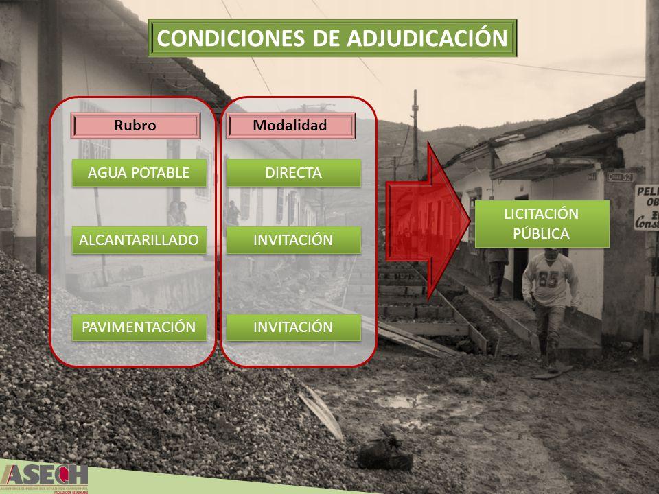 CONDICIONES DE ADJUDICACIÓN