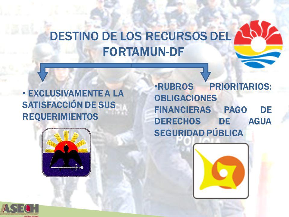 DESTINO DE LOS RECURSOS DEL FORTAMUN-DF
