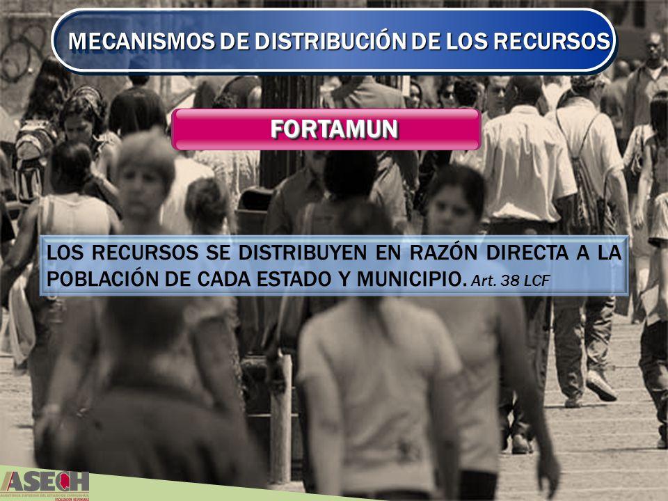 FORTAMUN MECANISMOS DE DISTRIBUCIÓN DE LOS RECURSOS