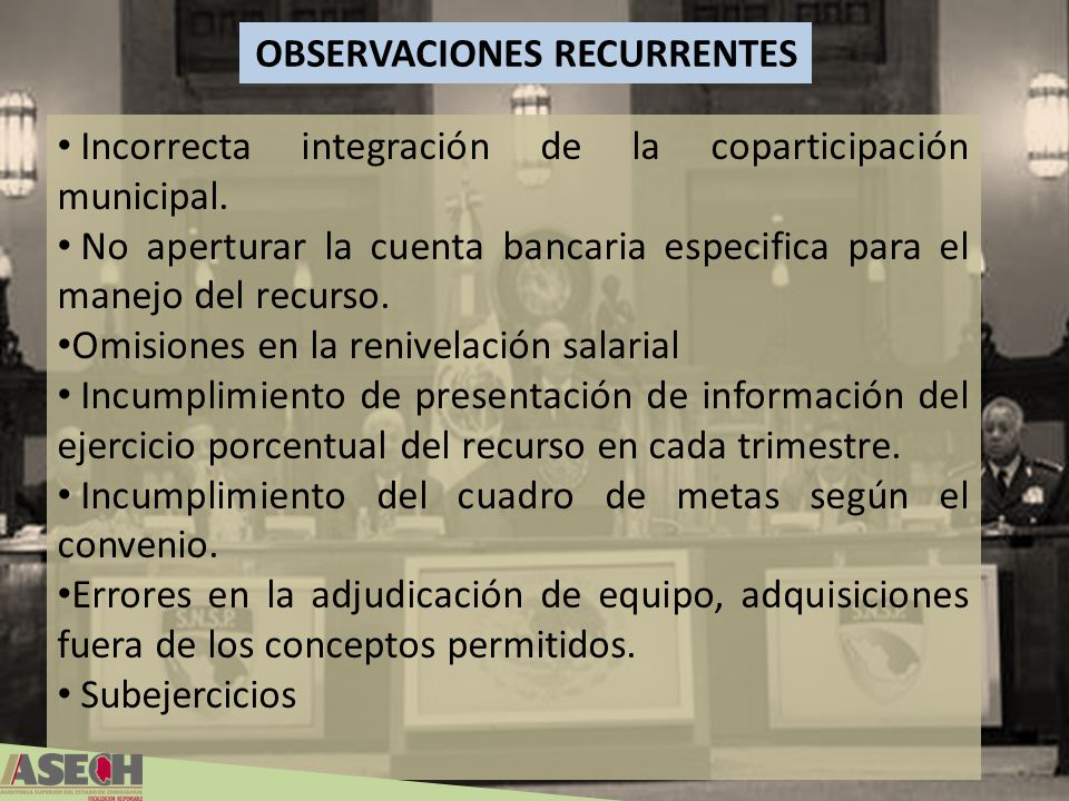 OBSERVACIONES RECURRENTES
