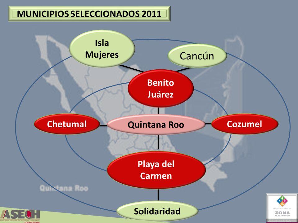 MUNICIPIOS SELECCIONADOS 2011