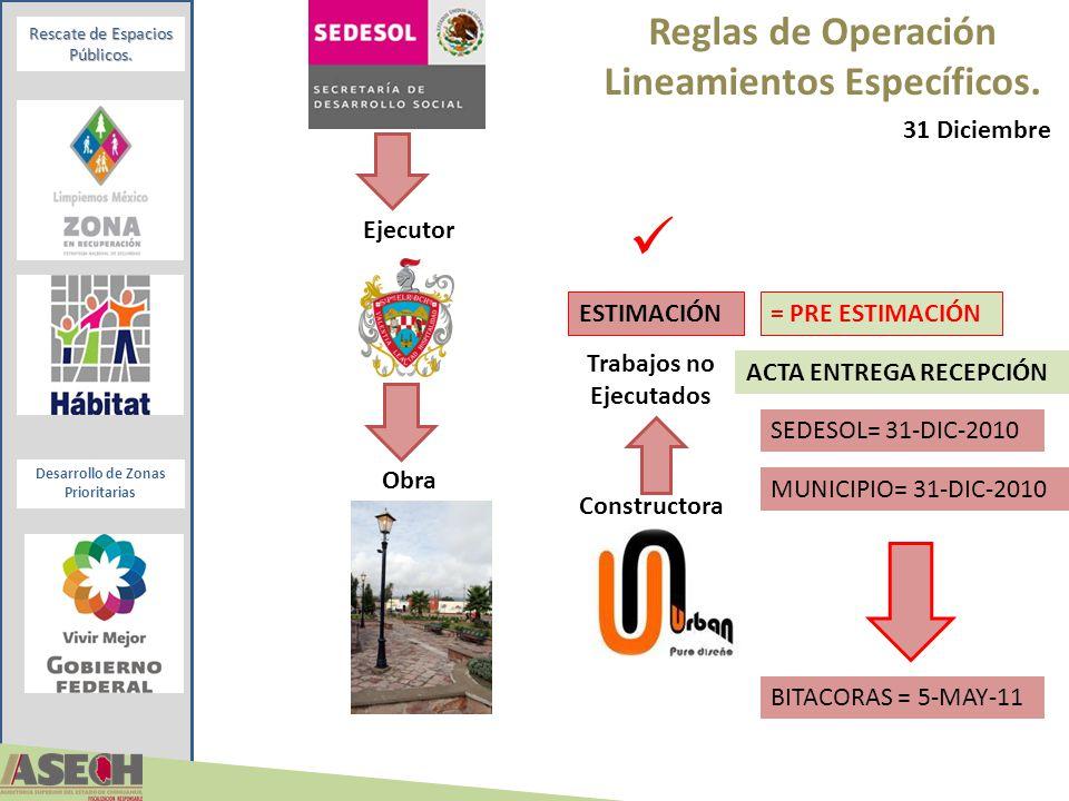 Reglas de Operación Lineamientos Específicos.