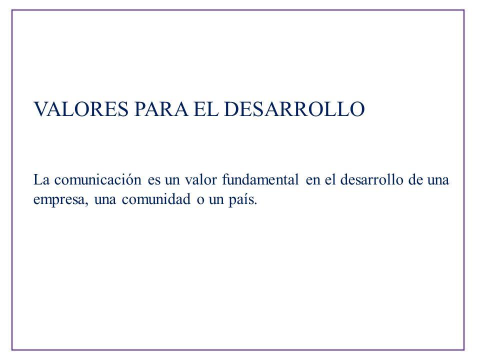 VALORES PARA EL DESARROLLO