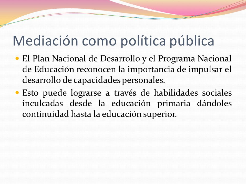 Mediación como política pública