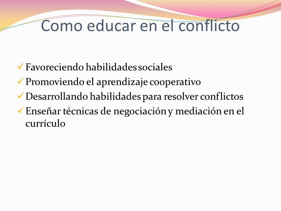 Como educar en el conflicto