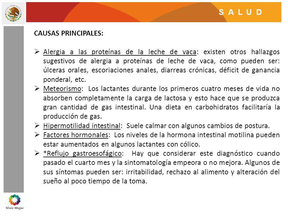 CAUSAS PRINCIPALES: