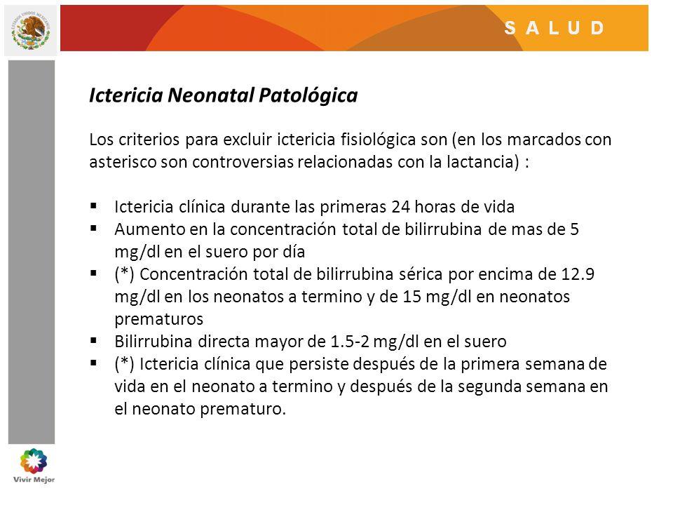 Ictericia Neonatal Patológica