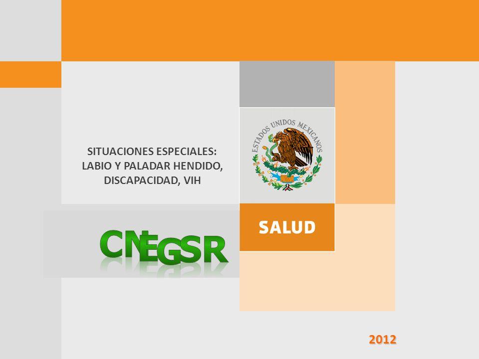 SITUACIONES ESPECIALES: LABIO Y PALADAR HENDIDO, DISCAPACIDAD, VIH