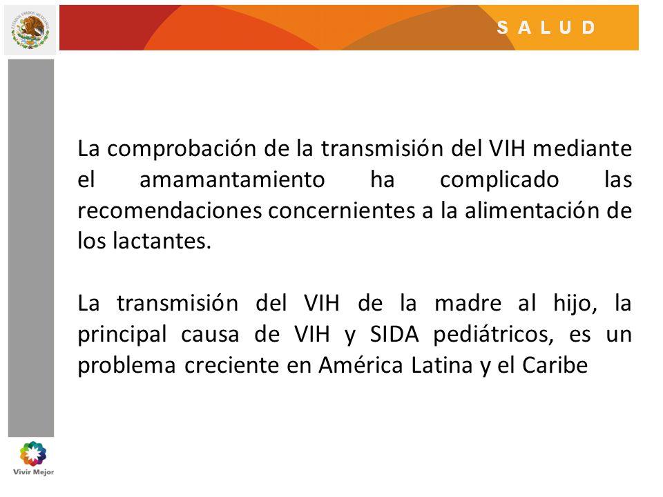 La comprobación de la transmisión del VIH mediante el amamantamiento ha complicado las recomendaciones concernientes a la alimentación de los lactantes.