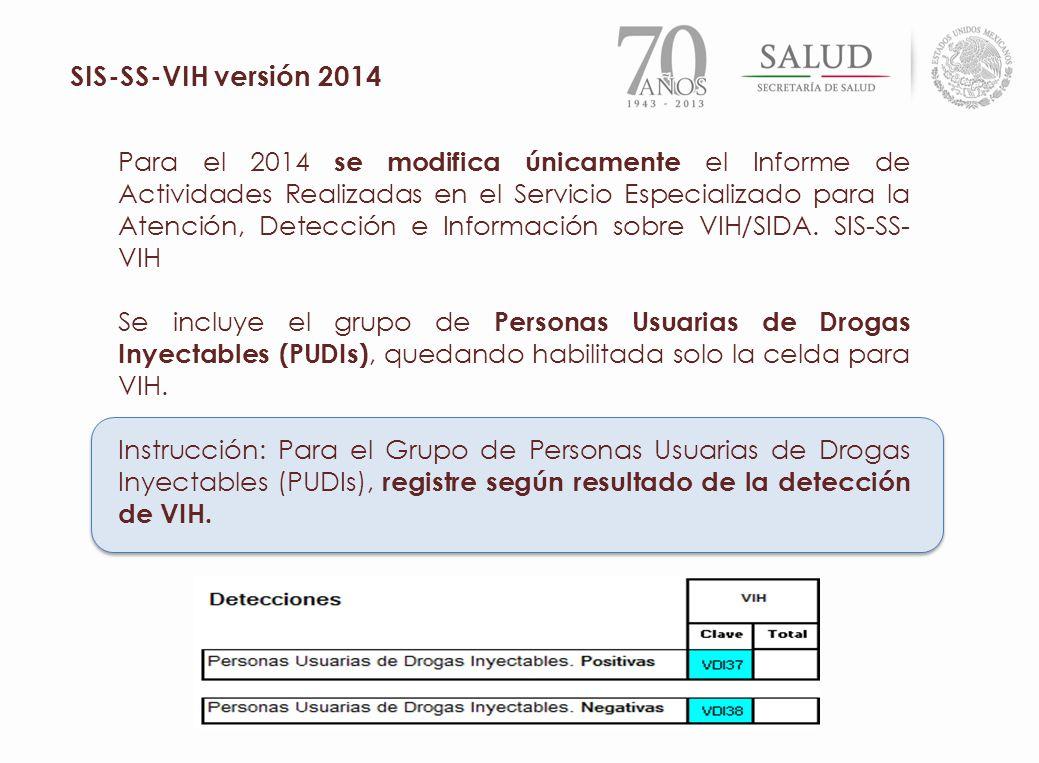 SIS-SS-VIH versión 2014