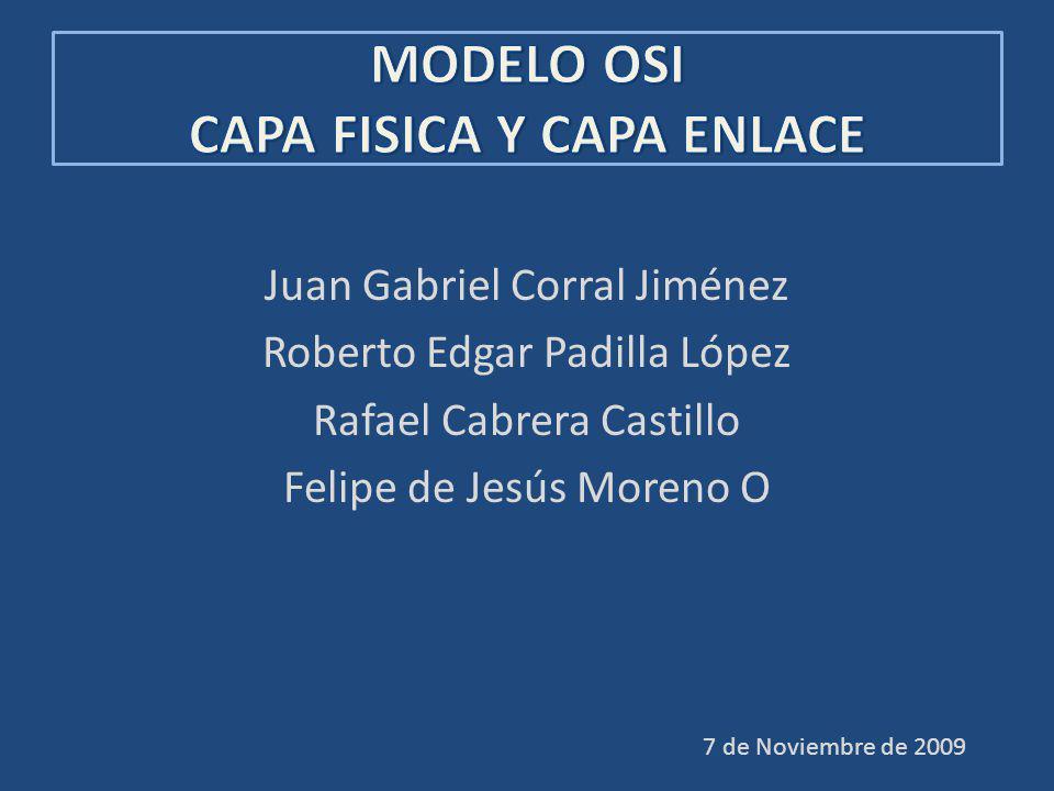 MODELO OSI CAPA FISICA Y CAPA ENLACE