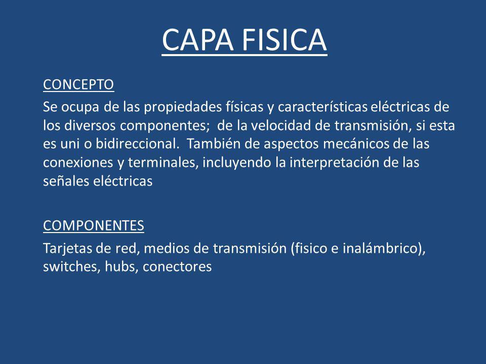 CAPA FISICA CONCEPTO.