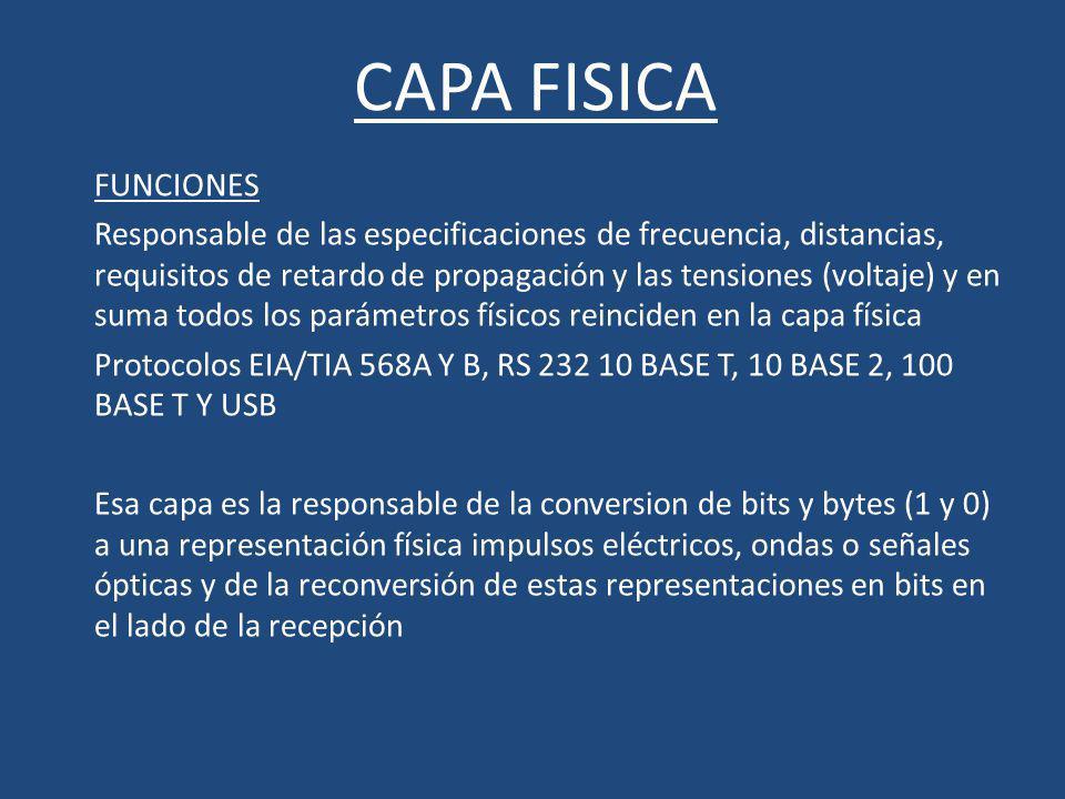 CAPA FISICA FUNCIONES.