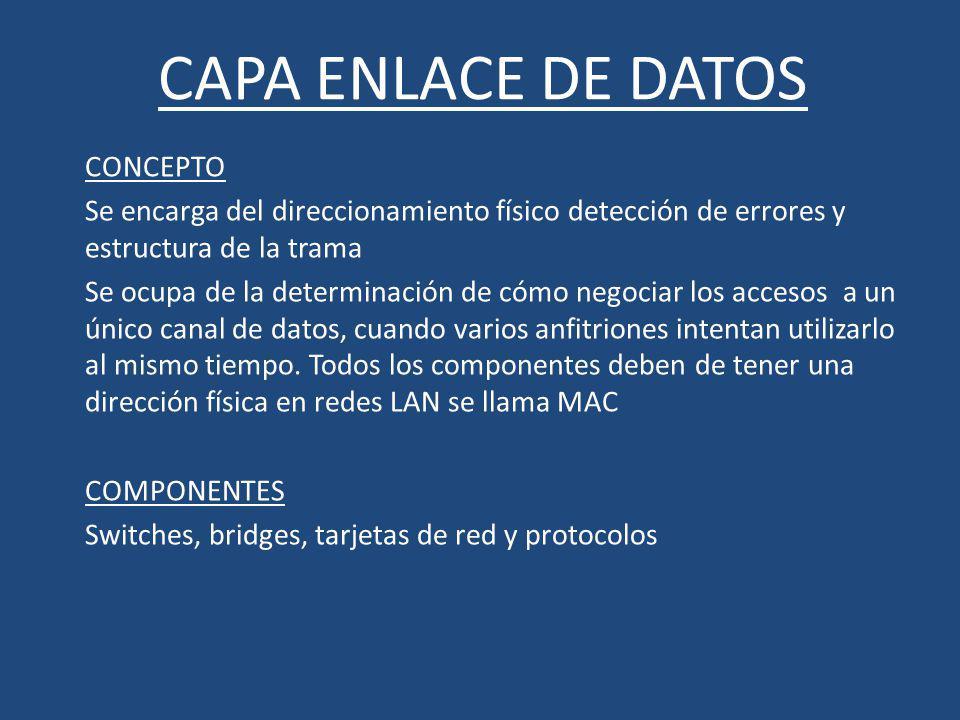CAPA ENLACE DE DATOS CONCEPTO