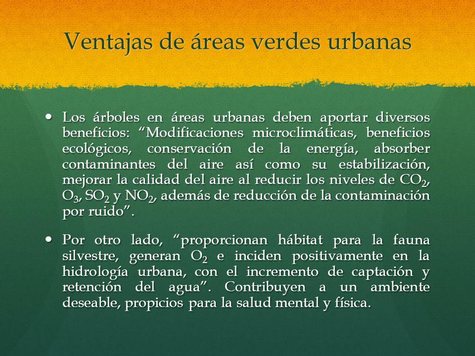 Ventajas de áreas verdes urbanas