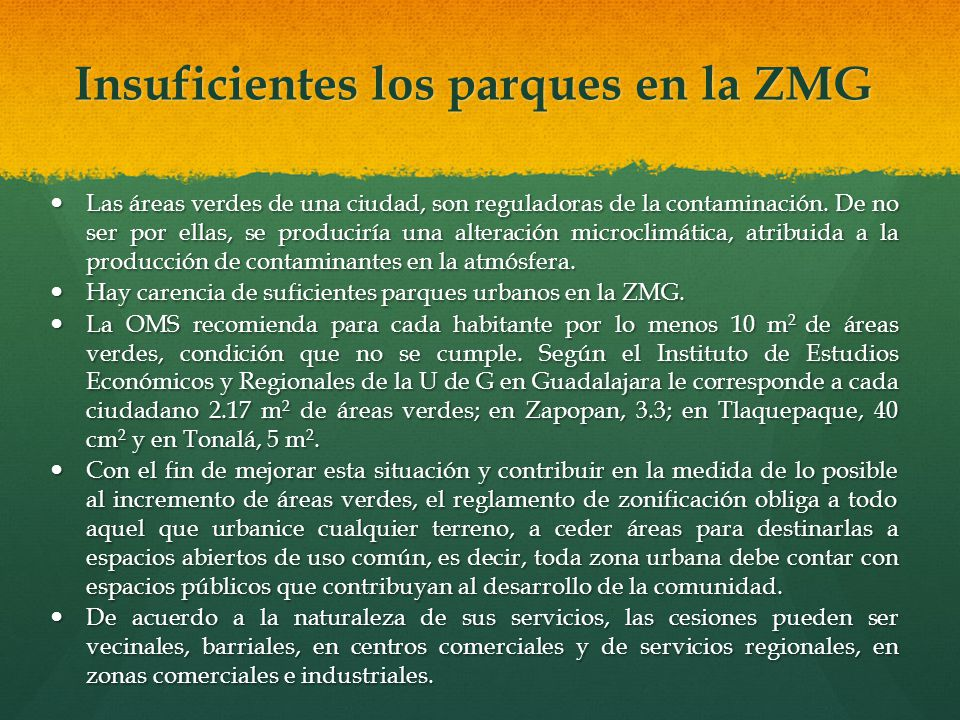 Insuficientes los parques en la ZMG