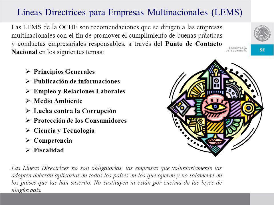 Líneas Directrices para Empresas Multinacionales (LEMS)
