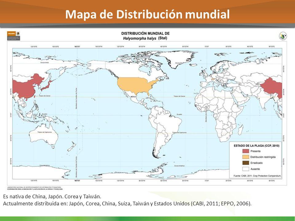 Mapa de Distribución mundial