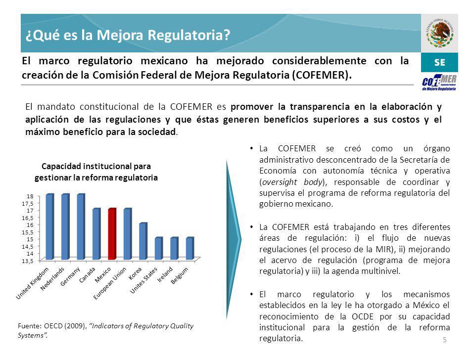 ¿Qué es la Mejora Regulatoria