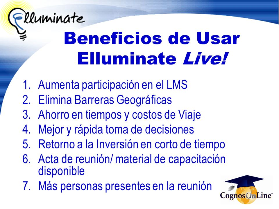 Beneficios de Usar Elluminate Live!