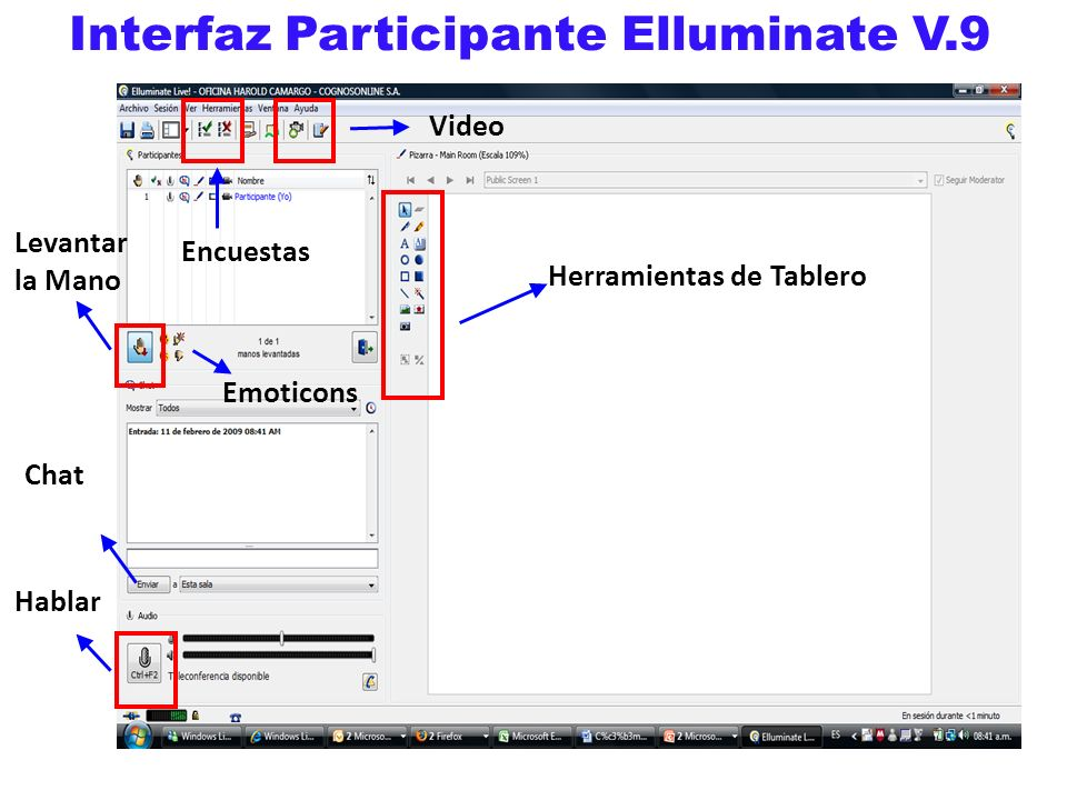 Interfaz Participante Elluminate V.9