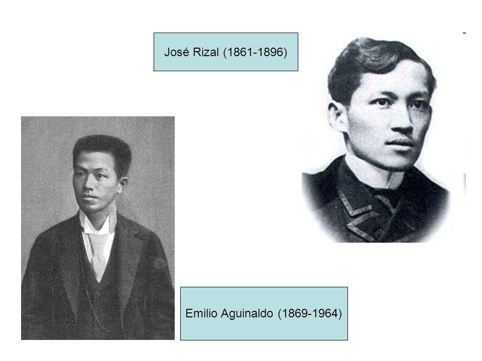 José Rizal (1861-1896) Emilio Aguinaldo (1869-1964)