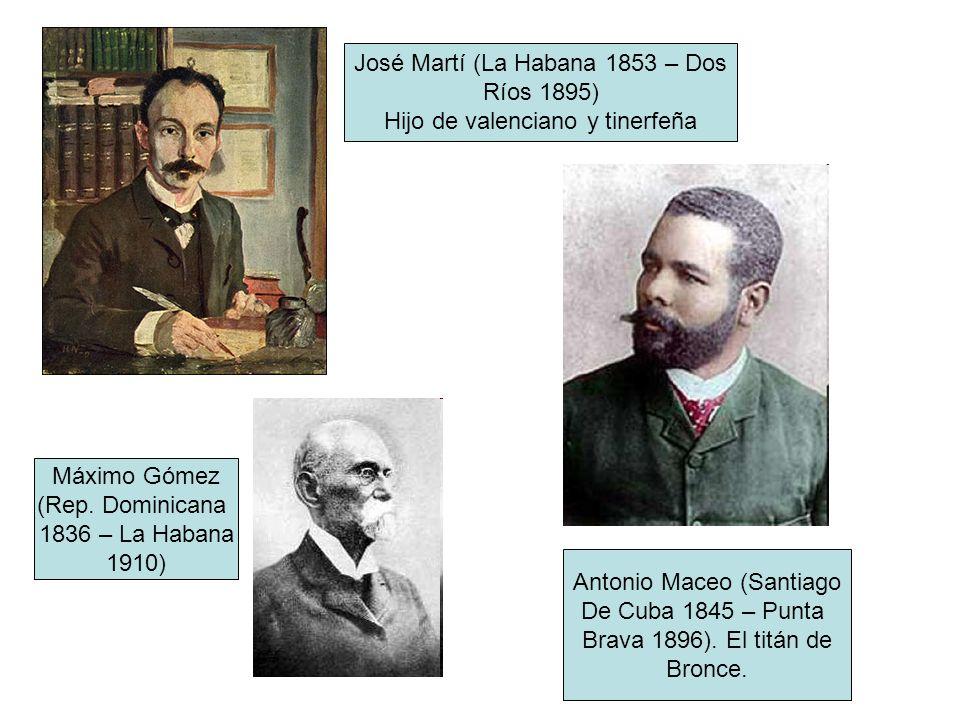 José Martí (La Habana 1853 – Dos Ríos 1895)
