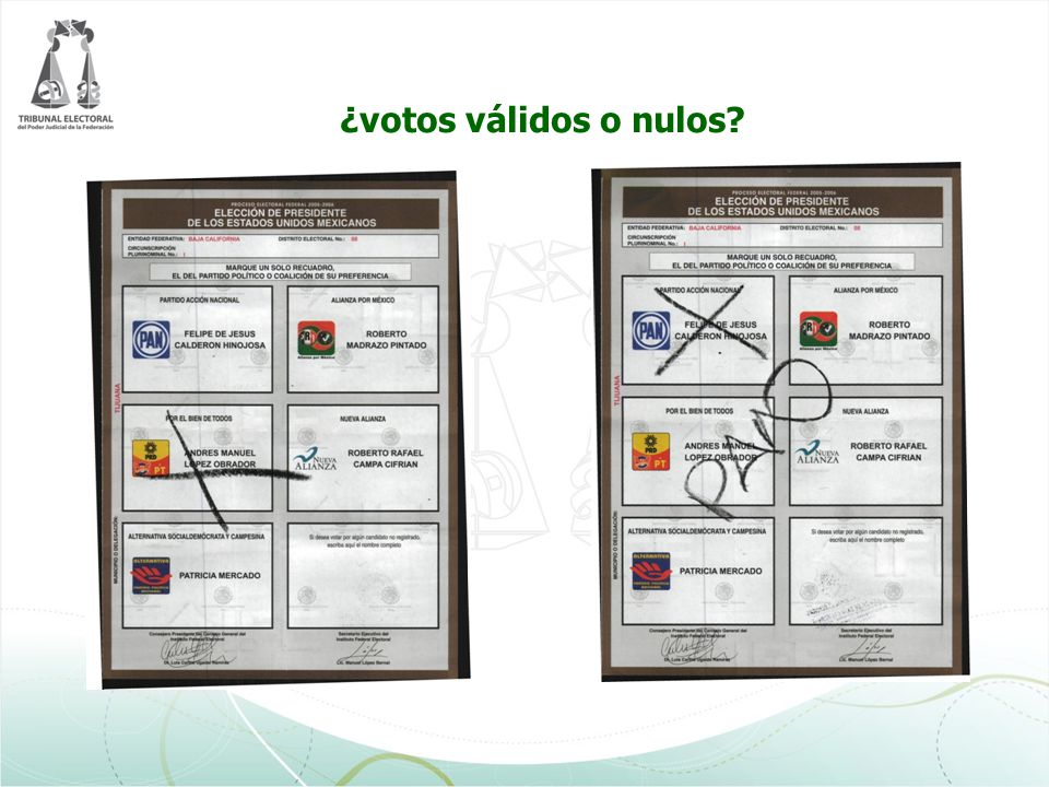 ¿votos válidos o nulos