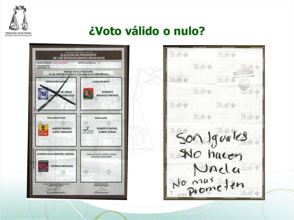 ¿Voto válido o nulo
