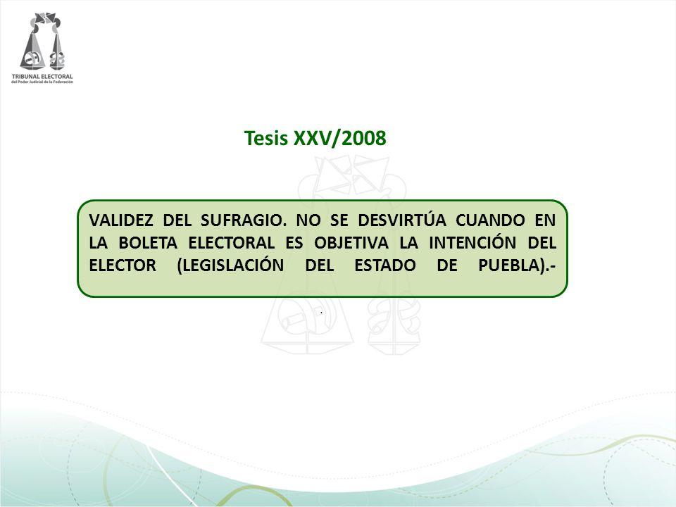 Tesis XXV/2008