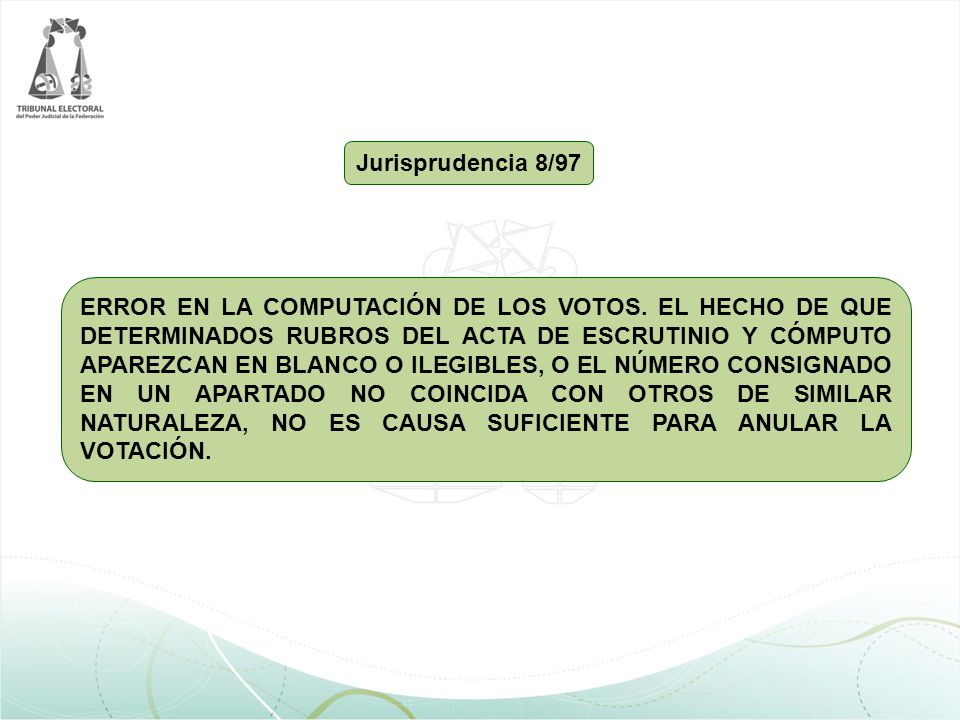 Jurisprudencia 8/97