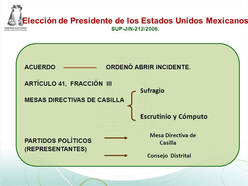 Elección de Presidente de los Estados Unidos Mexicanos