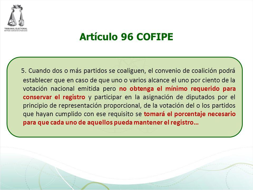 Artículo 96 COFIPE
