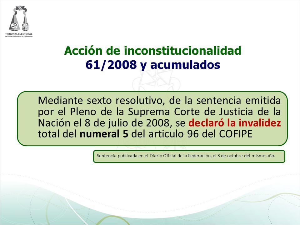 Acción de inconstitucionalidad 61/2008 y acumulados