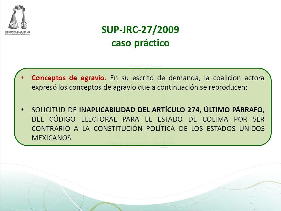 SUP-JRC-27/2009 caso práctico