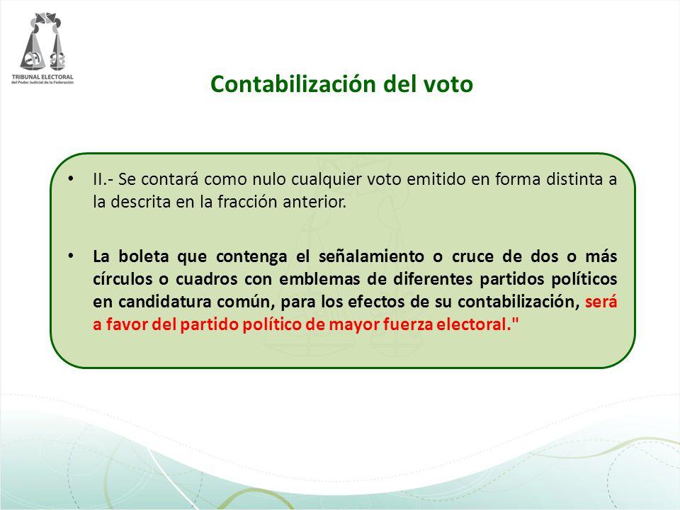 Contabilización del voto