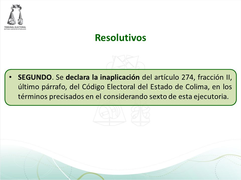 Resolutivos