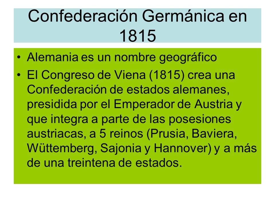 Confederación Germánica en 1815